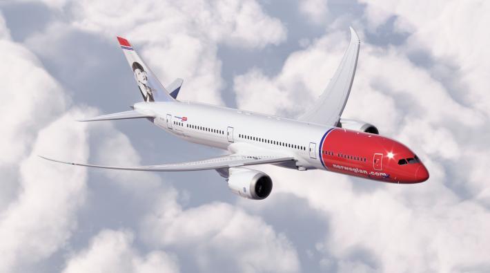 Norwegian Boeing 787 Vliegtuig Volgen